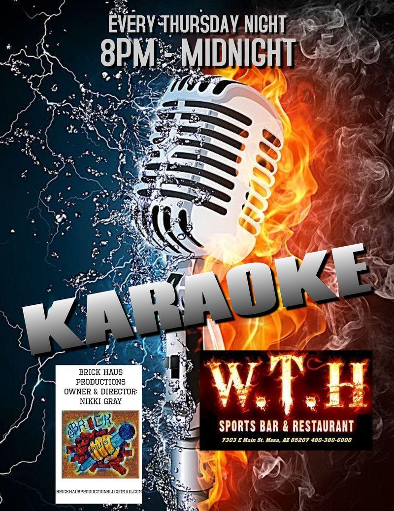 Karaoke Thursday's!!    8-MIDNIGHT
