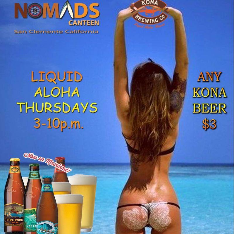 Aloha Thursday's at Nomads!!   3-10pm