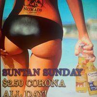 Sun Tan Sunday Specials!!  $2.50 Corona's