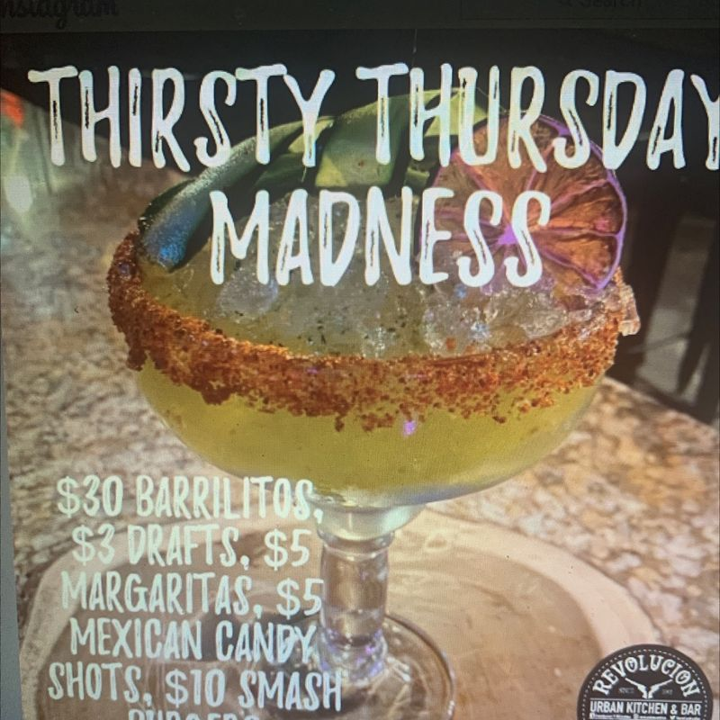 Thursday Madness Specials!!!