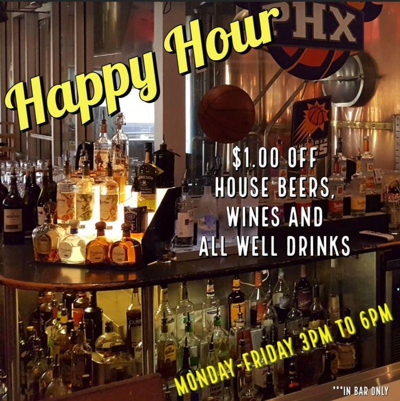 Wednesday Happy Hour Specials !!!  3-6pm